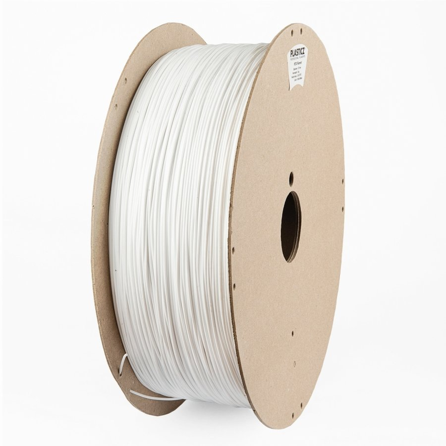 "PETG filament ""ECO-pack"", 2 KG, Traffic White/Wit RAL 9016-1"