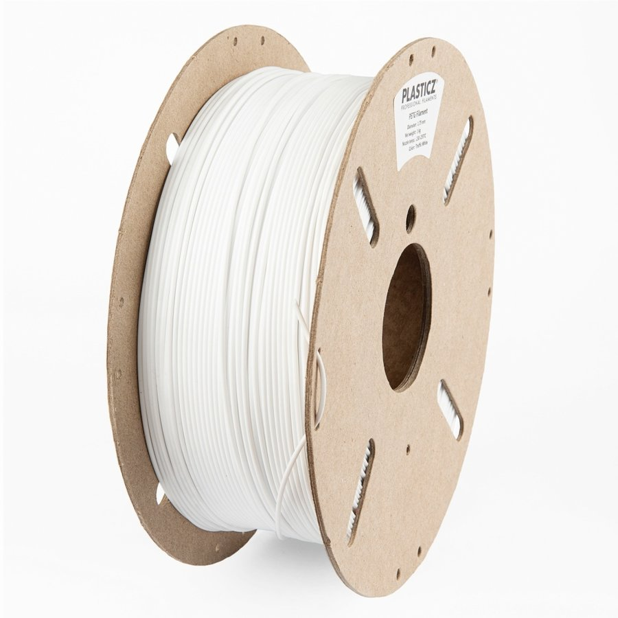 "PETG ""ECO-pack"" filament, 1 KG, Traffic White RAL 9016-1"