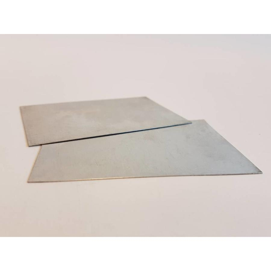 Metalen stelkaart: afstand nozzle - printbed / printbed leveling-1