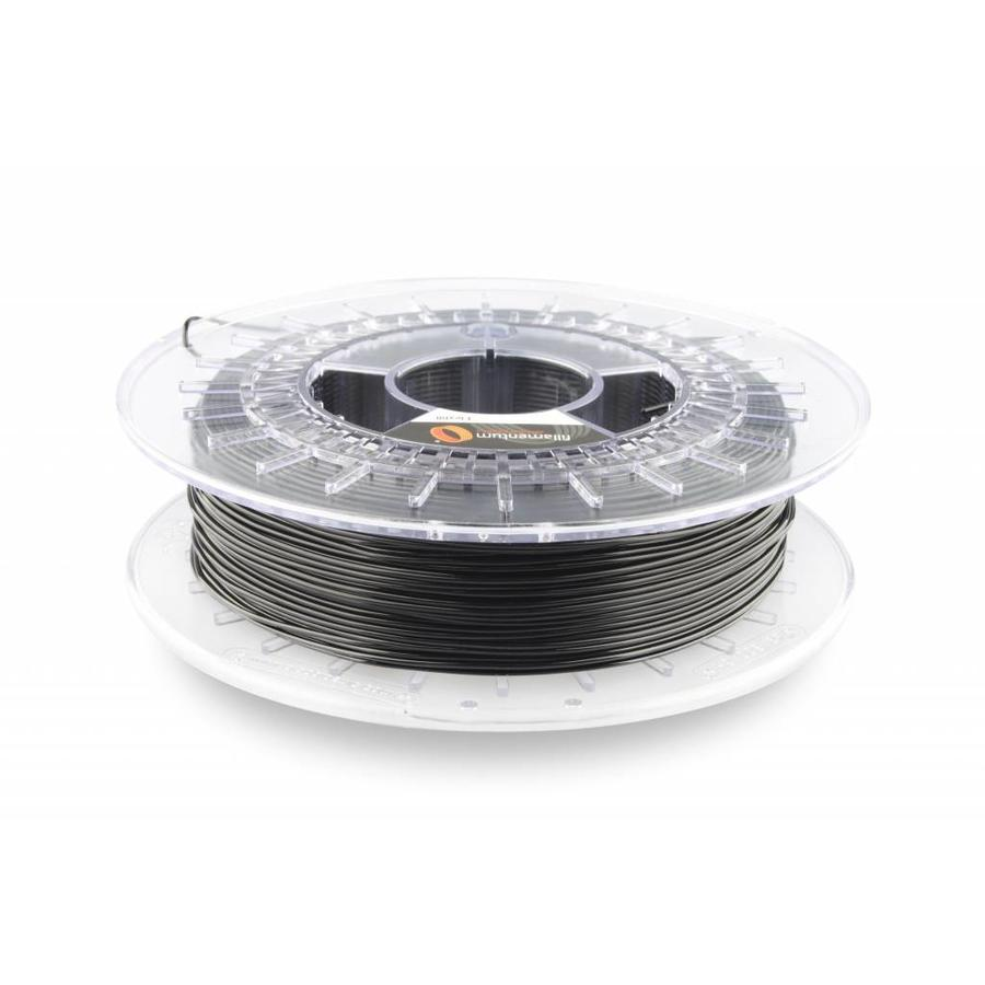 1.75 mm Flexfill 98A Traffic Black RAL 9017: semi flexible 3D filament, natural, 500 grams (0.5 KG)-1