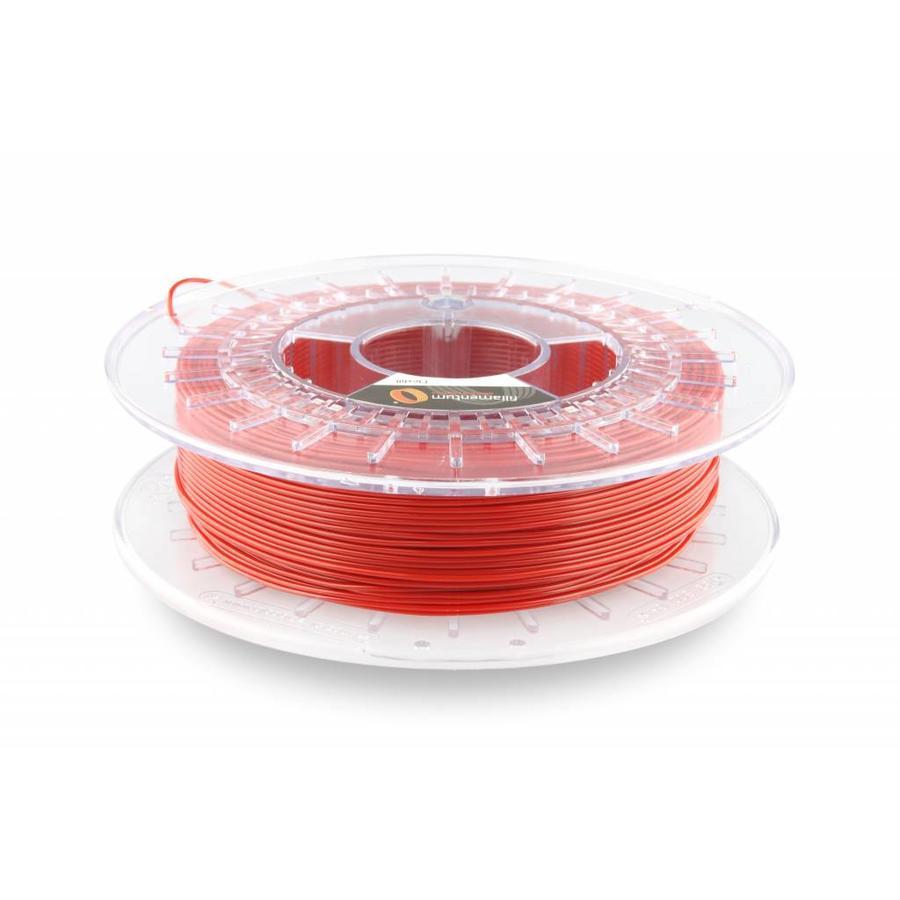 Flexfill 98A Signal Red RAL 3001: semi-flexibel 3D filament, 500 gram (0.5 KG)-1