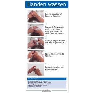 Handen wassen - Poster