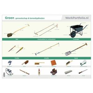 GROEN poster met gereedschap