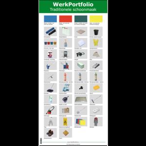 PRO SCHOONMAAK poster met gereedschap en materiaal