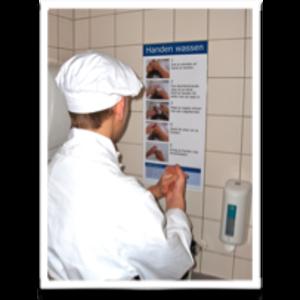 HYGIËNE instructieposter voor handen wassen