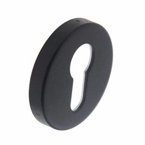 Intersteel Rozet zwart met profielcilindergat