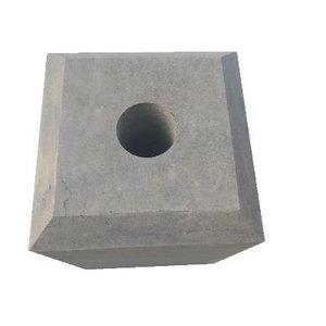 Sokkel met facetrand 185x185mm