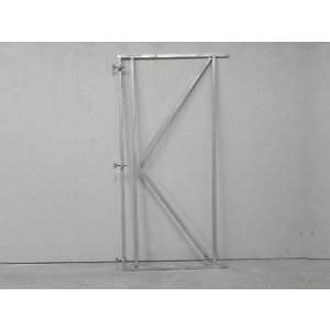 Verstelbare poortframe voor horizontale planken