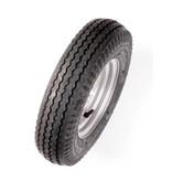 Compleet 8 inch wiel - 4.00-8 band + velg - opel steek: 4x100 - 4PR - 265 kg - 60 mm naafdiameter