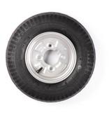 Compleet 8 inch wiel 4.00-8 band + velg - vetnippel steek: 4x101,6 - 6PR - 335 kg - 60 mm naafdiameter - inclusief vetnippel uitsparing