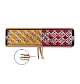 AWD Achterlicht LED 135x38x24 mm - 3 functies LED