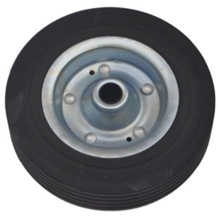 AWD Losse stalen velg met Hard rubberen wiel 200 x 50. Past op neuswiel met buis van 48mm doorsnee.