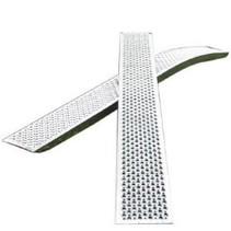 Set gebogen oprijplaten - ALU - 1000 kg (250x26 cm)
