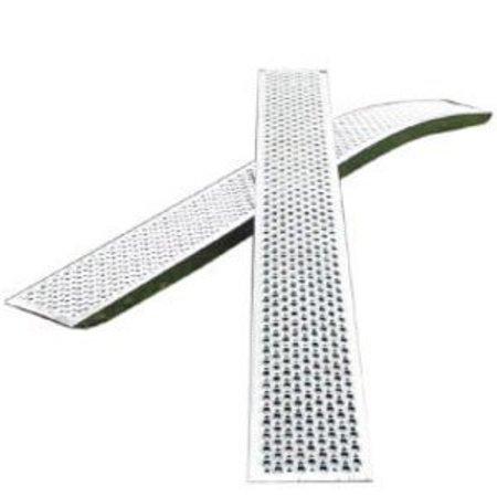 Novio Set gebogen oprijplaten - aluminium - 1000 kg (250x26 cm)
