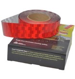 Avery 50 meter reflecterende tape voor harde ondergrond - rood
