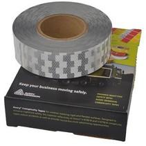 Per meter Reflecterende tape Wit - voor harde ondergrond