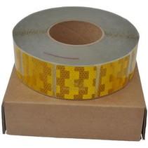 Per meter Reflecterende tape - Geel - zachte ondergrond (bijv. Huifdoek)