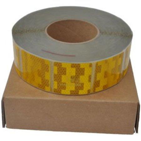 Avery 50 meter reflecterende tape voor zachte ondergrond - oranje/geel