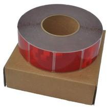 Per meter Reflecterende tape - Rood - zachte ondergrond (bijv. Huifdoek)