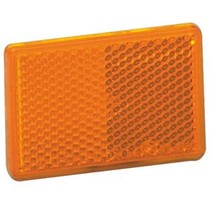 Oranje/gele reflector 70x30 mm zelfklevend