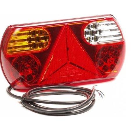 AWD Achterlicht links 32 LEDS 296x145x45 mm - inclusief reflecterende driehoek