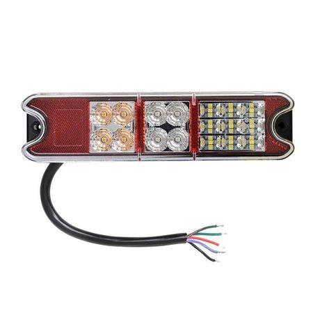 AWD Achterlicht LED links/rechts 216x49,4x28 mm - 4 functies - losse draad aansluiting