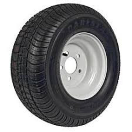 Compleet 10 inch wiel - 20.5x8.00-10 band + velg - mercedes steek: 5x112 - 750 kg - 10PR - 67 mm naafdiameter