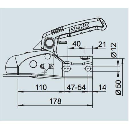 AL-KO AL-KO AK161 - rond 35/45/50 mm - 1600 kg - geremde koppeling