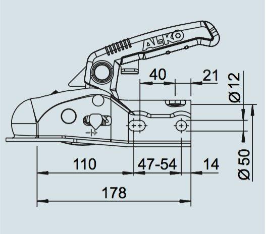 alko al-ko ak161 koppeling technische tekening