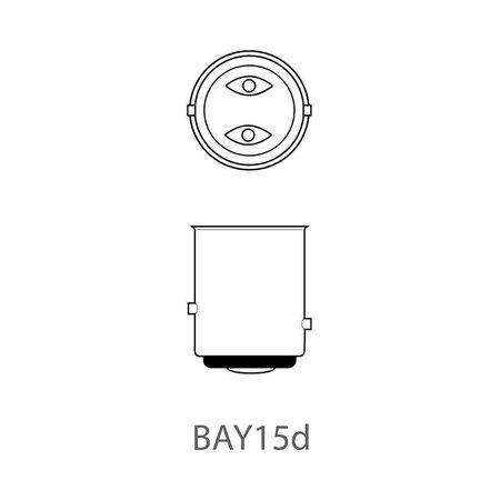 ProPlus Set van 2 lampjes, Bol Bajonet 15D 12V 21/5 W ( Achterlicht/Remlicht combi)
