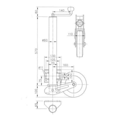 Winterhoff  Winterhoff Neuswiel rond 60 mm automaat Extra lang