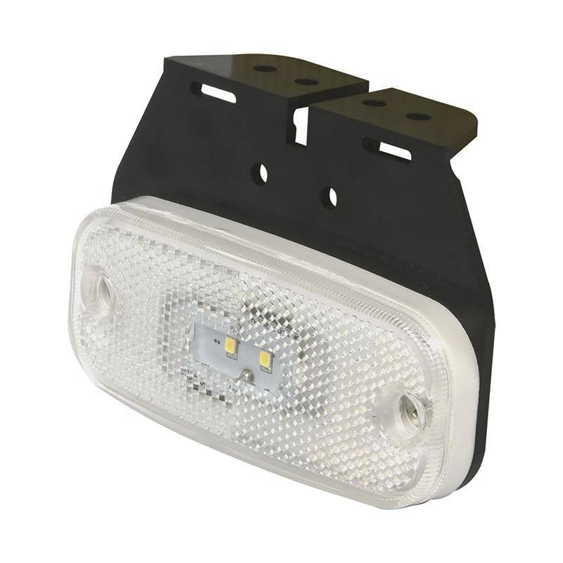 Markeringslamp Wit  10-30V 110x45 mm LED met houder