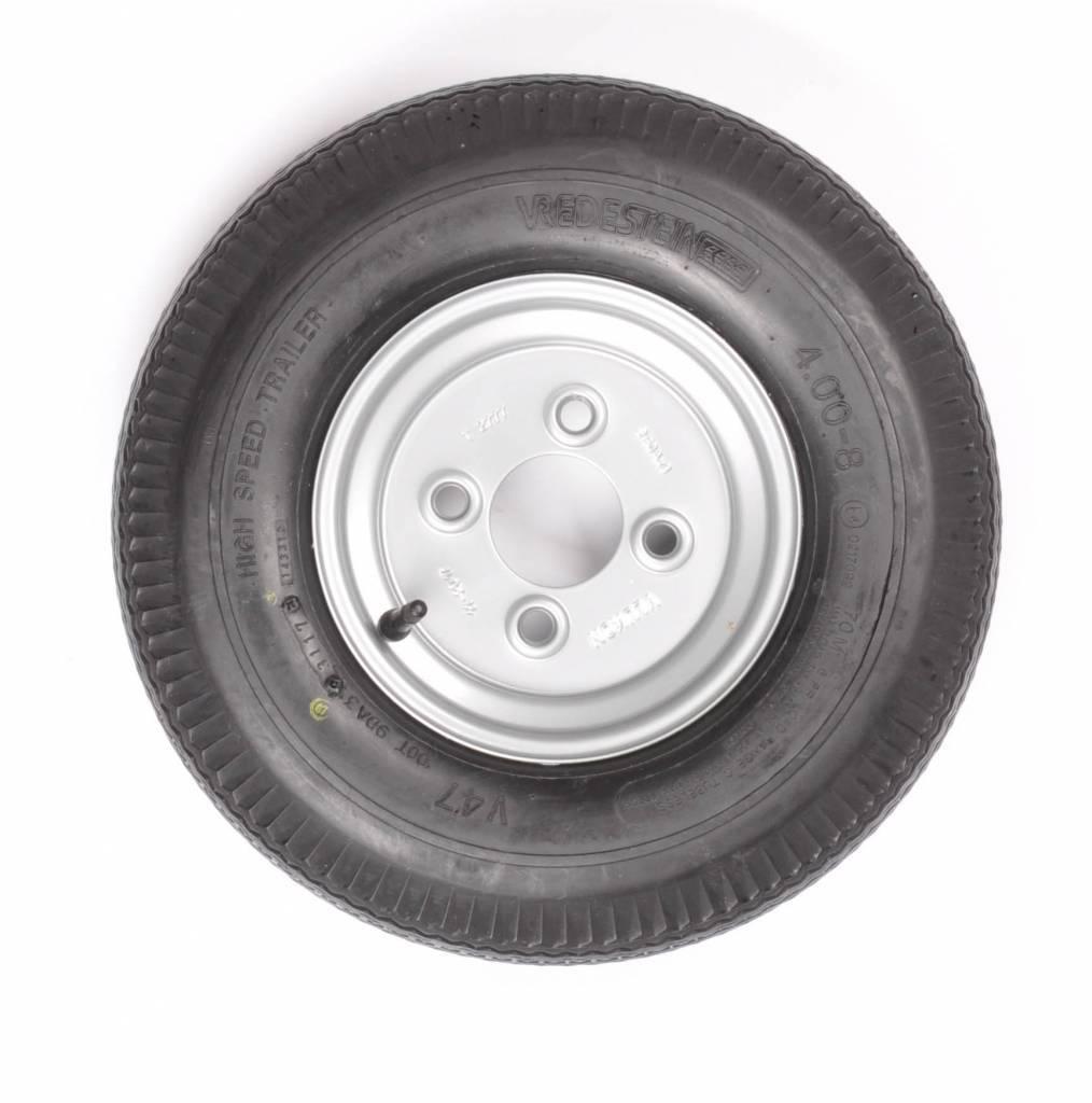 Vredestein wiel 4.00 - 8 (4x100) 270kg 4PR Naafdiameter 60 mm