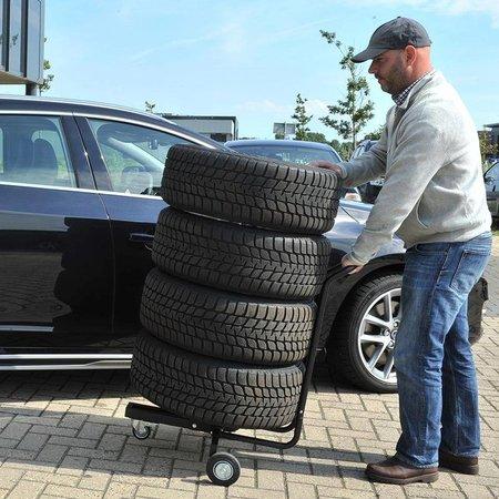 AWD Velgenstandaard verrijdbaar met handgreep voor 4 wielen