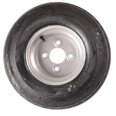 Compleet 8 inch wiel 16.5x6.50-8 band + velg - opel steek: 4x100 - 6PR - 360 kg - 60 mm naafdiameter
