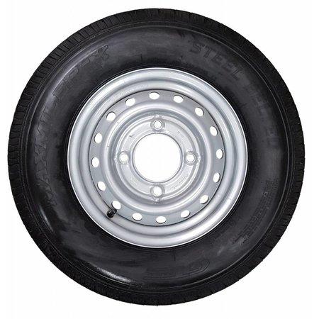 GT RADIAL  Compleet wiel 175R13 band + velg (steek 4x139,7) 700kg Naafdiameter 95,5 mm