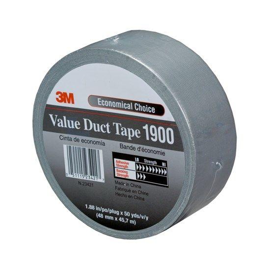 DuctTape 3M 1900 Economy 50 mm x 50 meter zilver