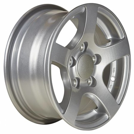 Kargotrail Compleet wiel op lichtmetalen velg zilver 195/50 R13 (steek 5x112) 900kg ET30 Naafdiameter 67 mm