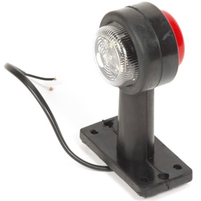 Breedtelicht rood/wit LED 12-24v