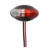 Design Breedtelamp rood/wit LED op houder