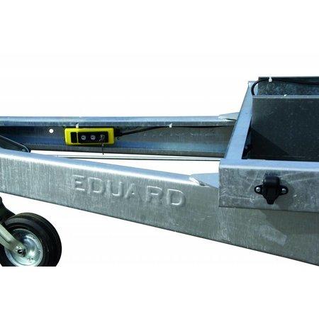 Eduard Geremde Eduard achterwaartse kipper - 310x160 cm - 2700 kg bruto laadvermogen - elektrisch, extern laden, handpomp - 72 cm laadvloerhoogte