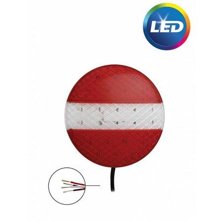 Achterlicht LED rond 140x20 mm