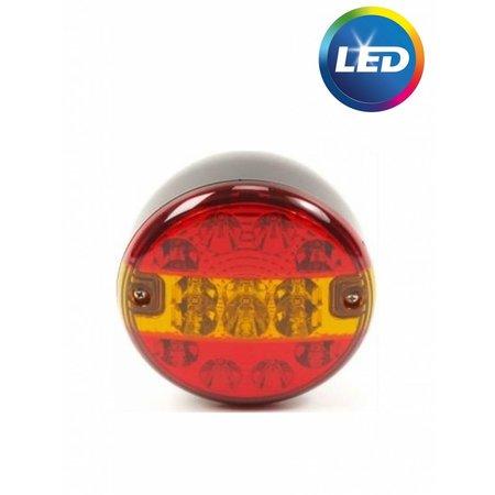 LED achterlicht rond 140x80 mm