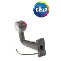 Breedtelicht LED haakse hoek rood/wit L/R