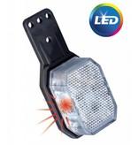 Aspock Aspock Flexipoint LED breedtelicht universeel rood / wit op kleine rubber houder met 0,5m kabel