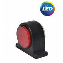 LED breedtelicht rood/wit 68x62 mm