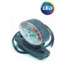 Breedtelicht halfrond LED links/rechts 12 volt