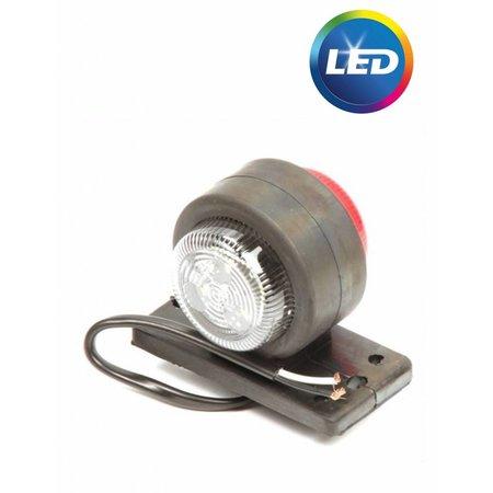 Eigen merk LED breedtelicht rood/wit  40x90x75 mm