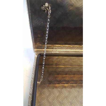 Waterdichte en stofdichte aluminium traanplaat disselkist 914x387x230 mm - inclusief geïntegreerde spansluiting