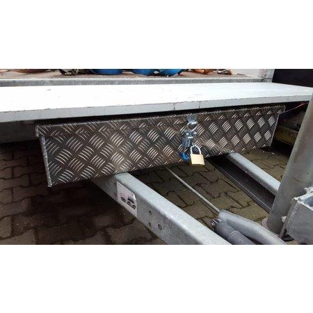 Disselkist aluminium met spansluiting (90x38x15 cm)